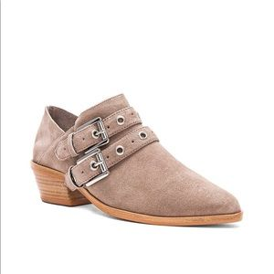 Rebecca Minkoff Taupe Suede Ankle Boot
